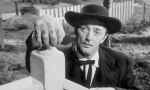 Robert Mitchum as Harry Powell in the film version of Night Of The Hunter.