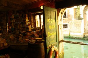 Libreria Acqua Alta, Venice, Italy.
